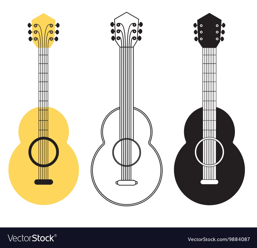 Classical acoustic guitar set