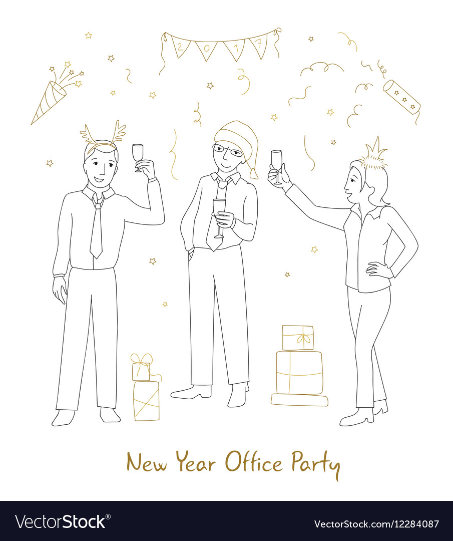 Office party line style