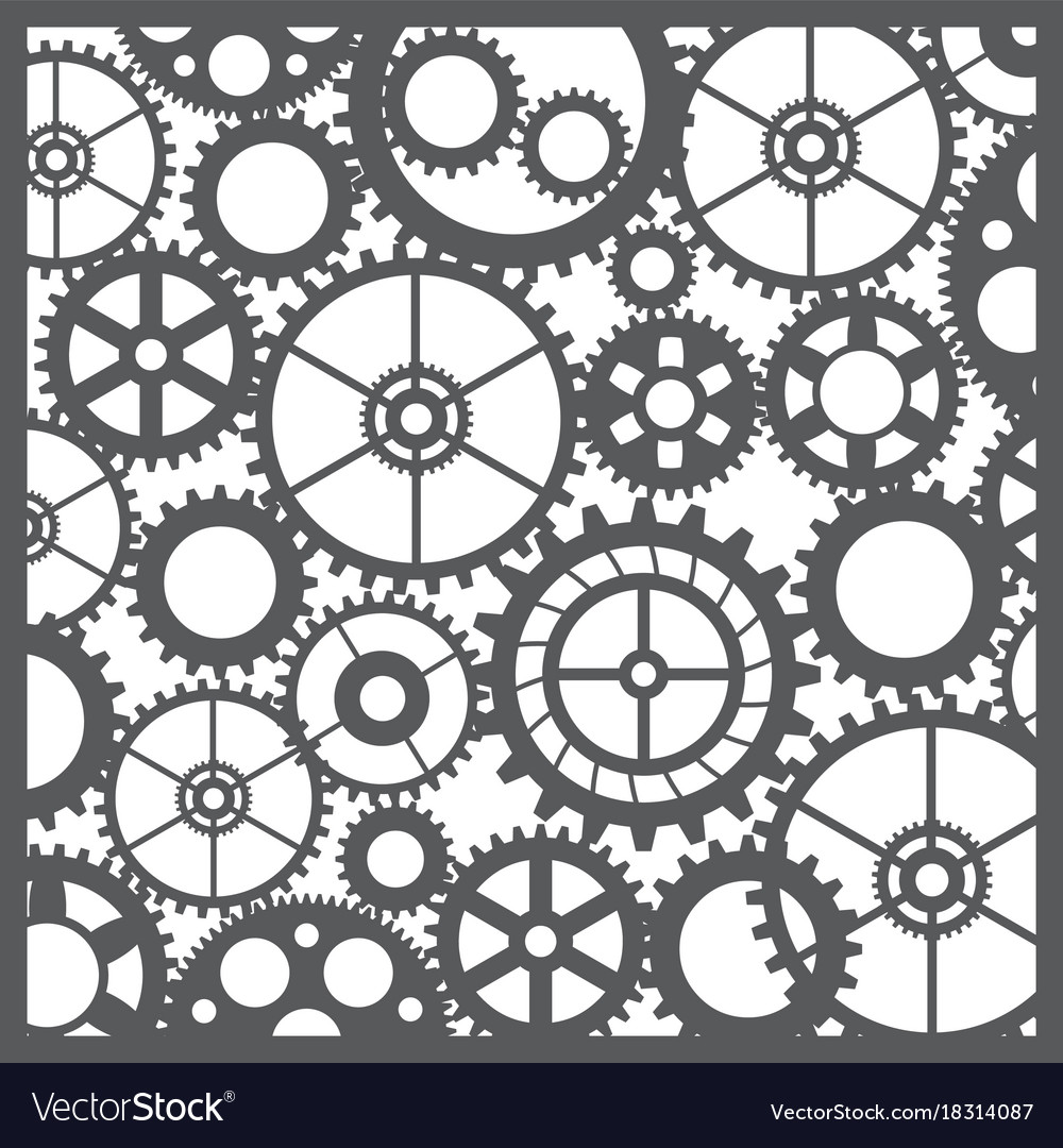 Pattern silhouette cut gears