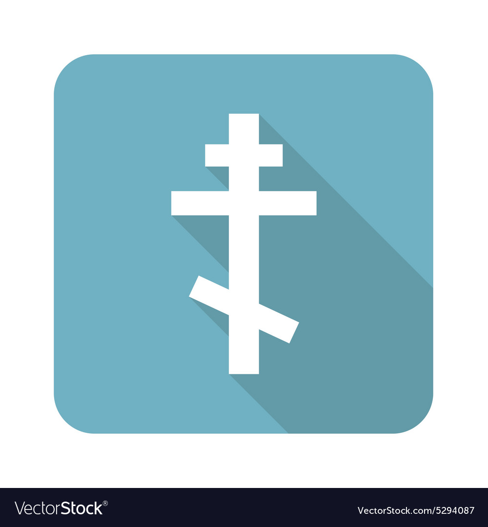 Square orthodox cross icon