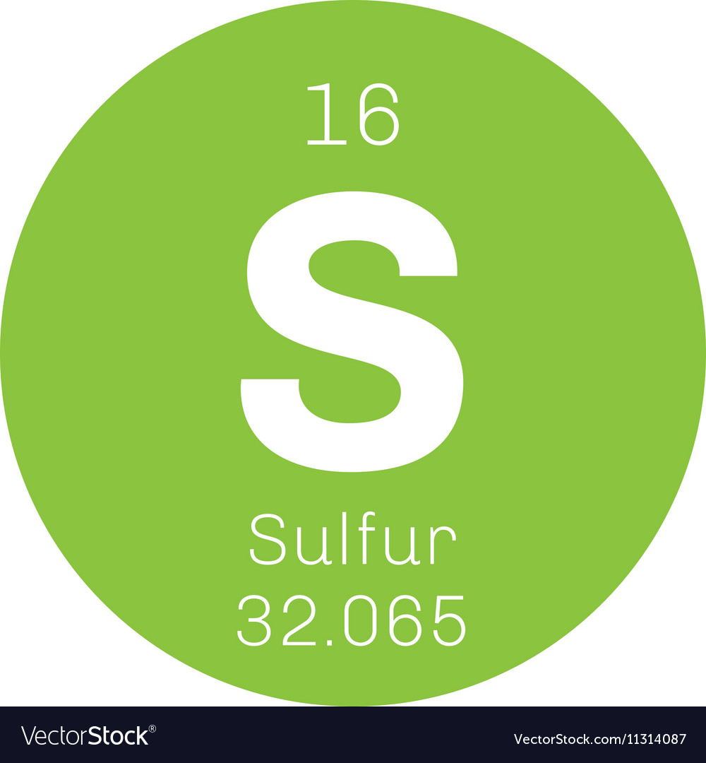 Sulfur Chemical Element Royalty Free Vector Image