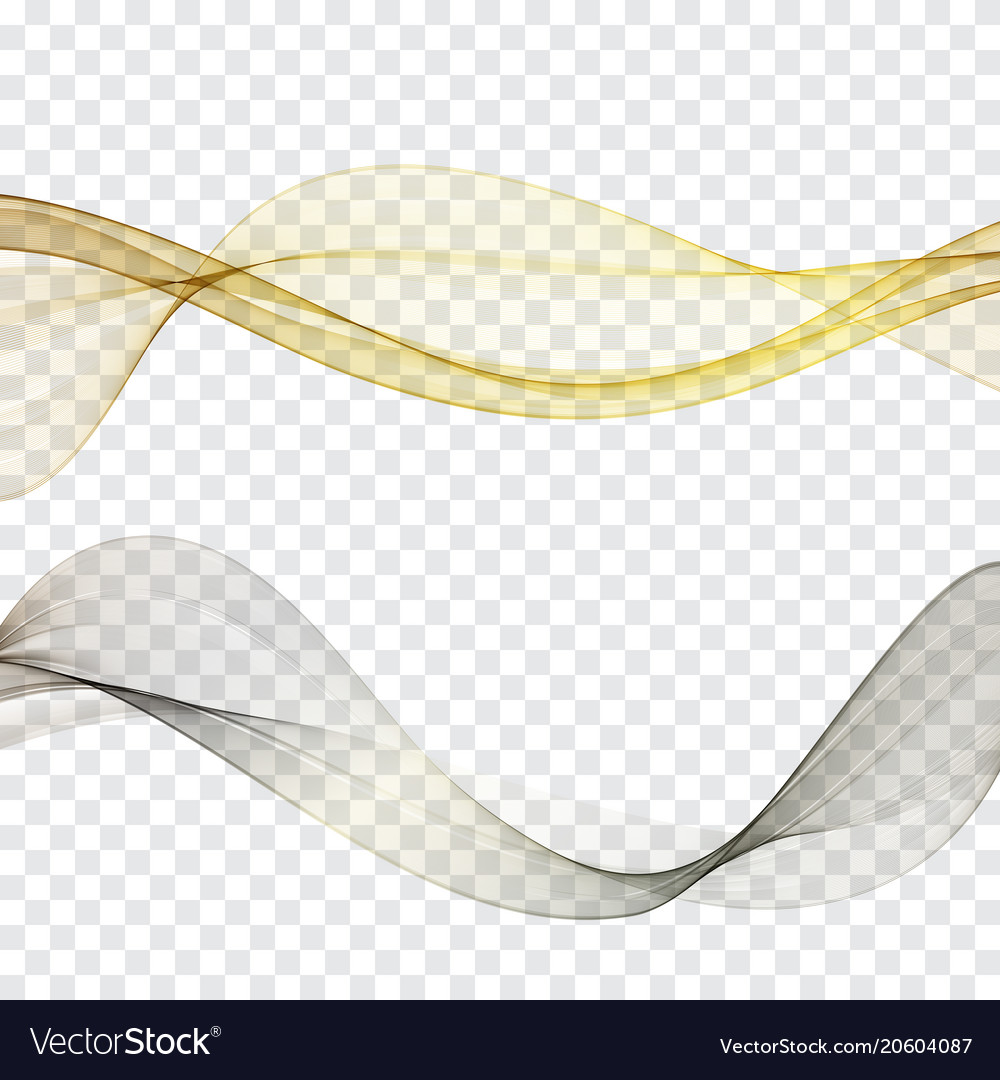 Transparent waves setgold and platinum wave