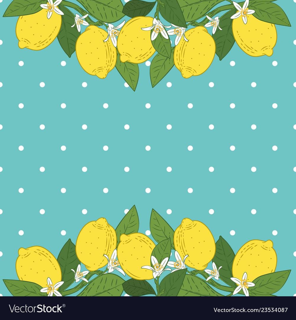 Tropical citrus lemon fruits bright background