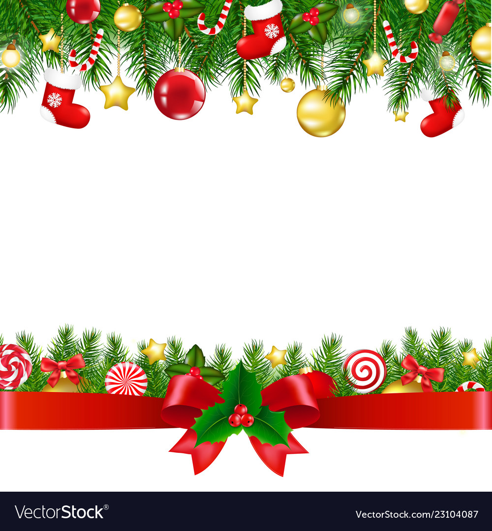 Christmas Boarders.Xmas Borders With Ribbon