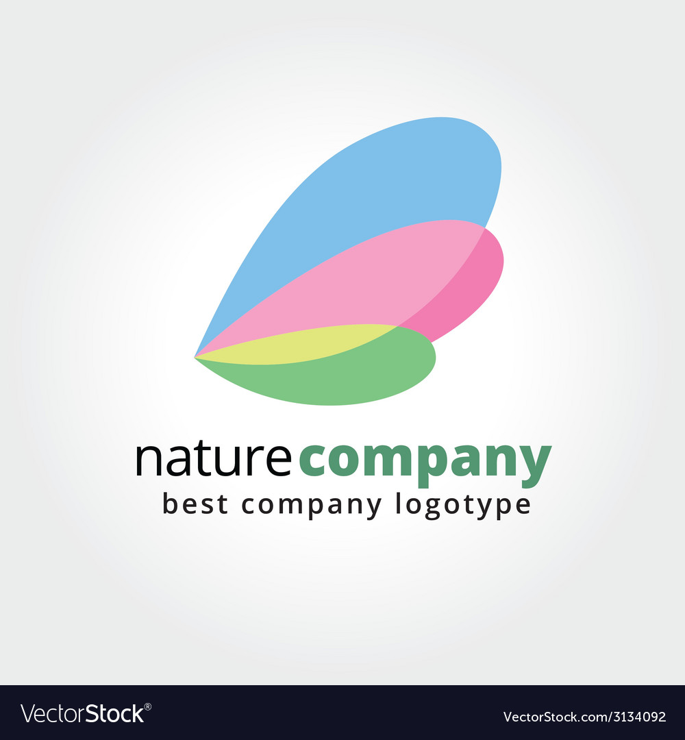 Abstract colored insect wings logo icon concept vector image