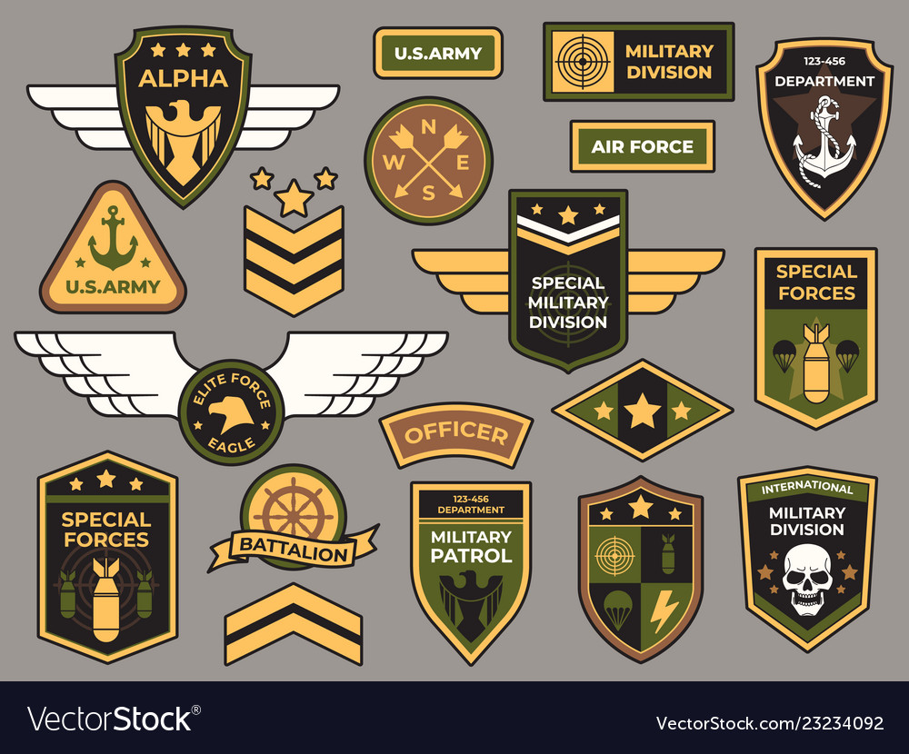 Army badges military patch air force captain