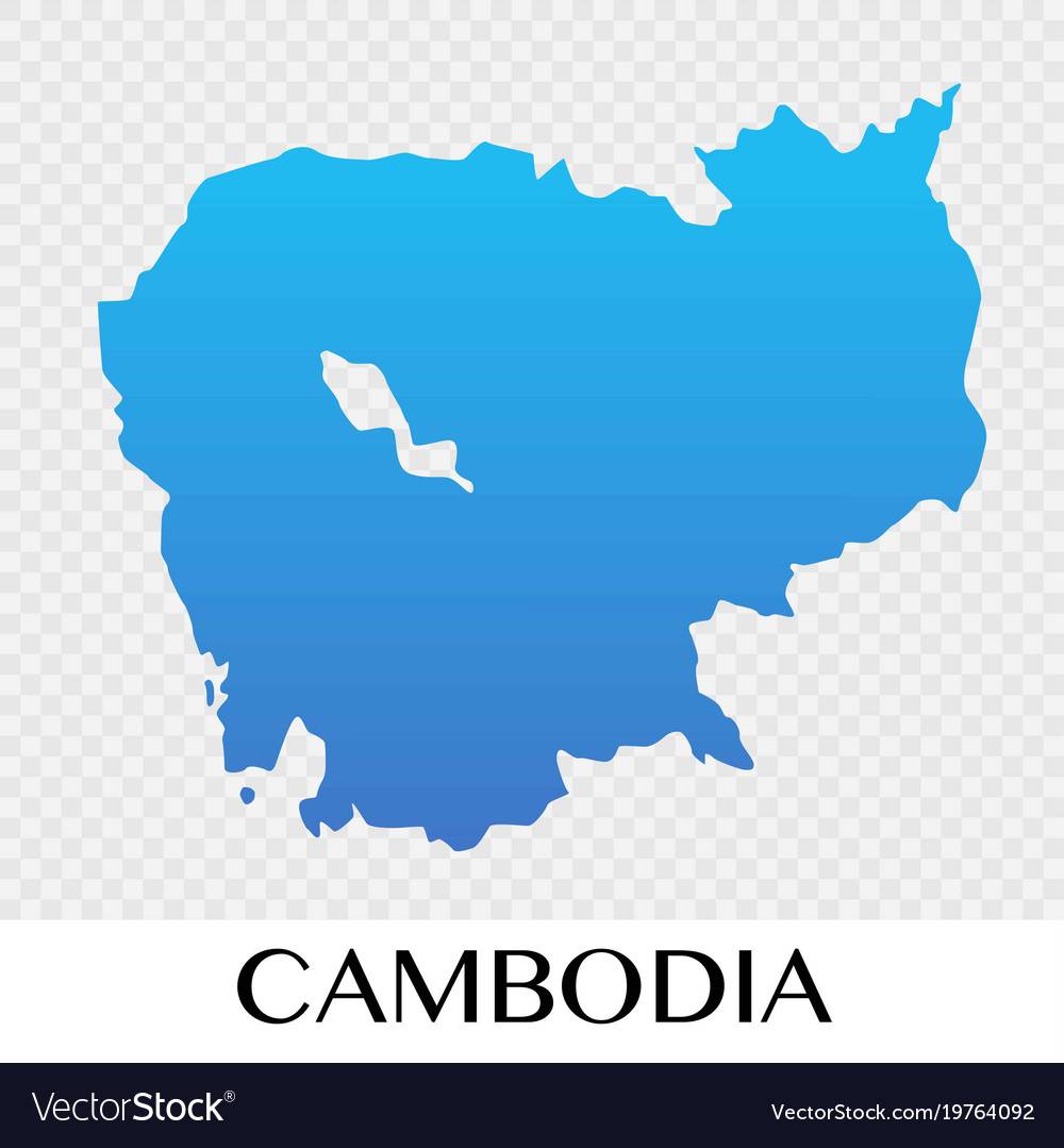 Cambodia map in asia continent design Royalty Free Vector