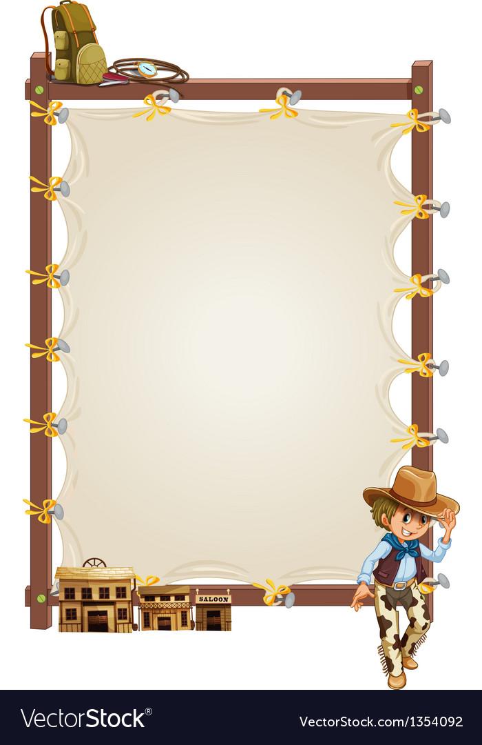 Cowboy Border Frame Royalty Free Vector Image - VectorStock