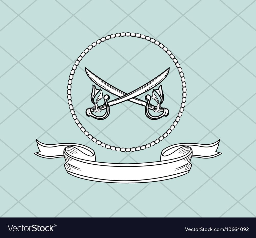 Crossed swords emblem image