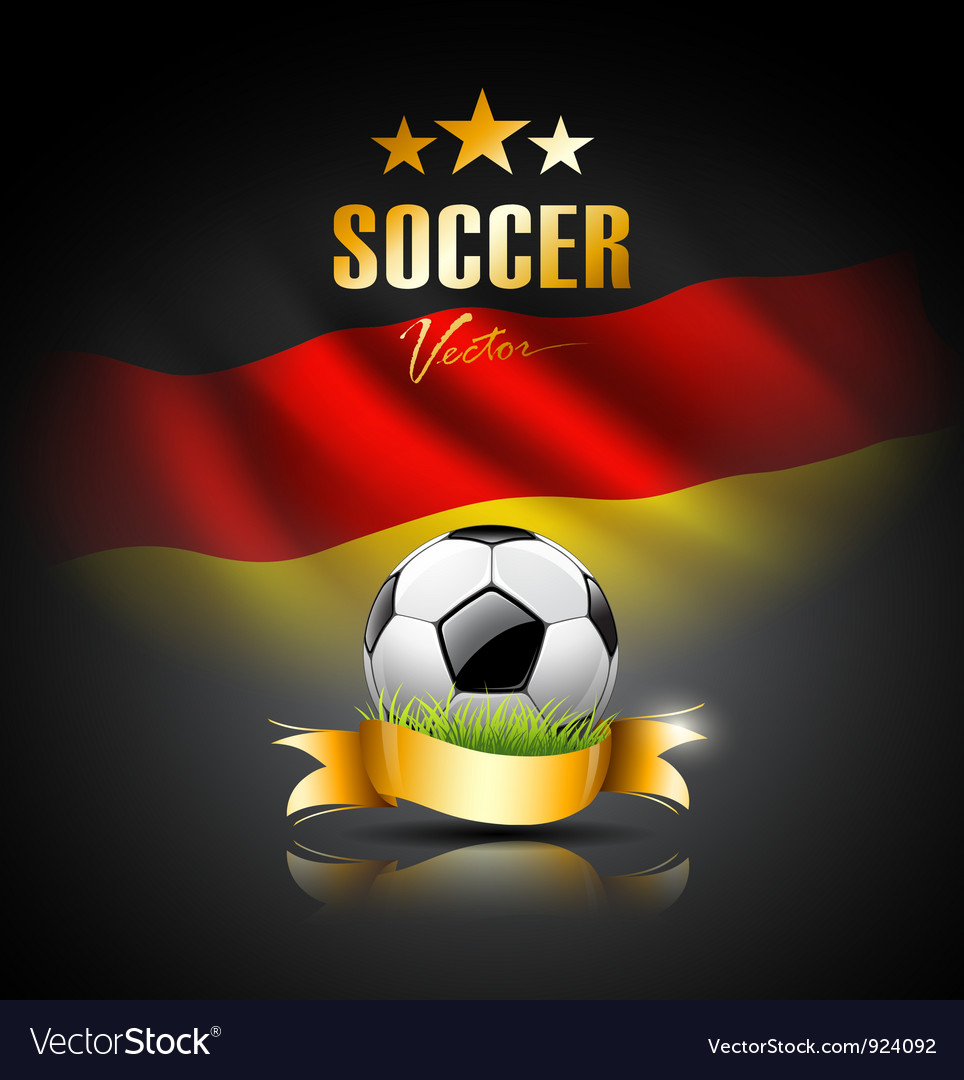 Football and flag of germany