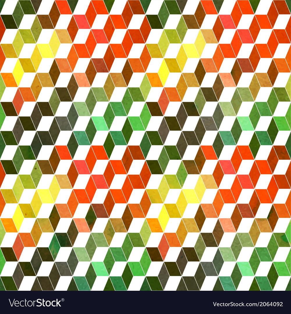 Hipster geometric background made of cubesRetro