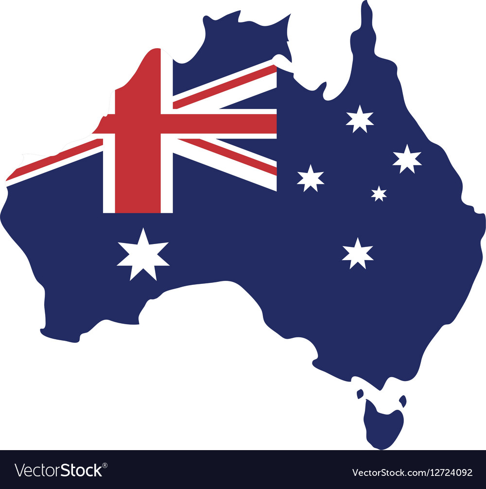 Australia Map With Flag.Map Australian Flag Background