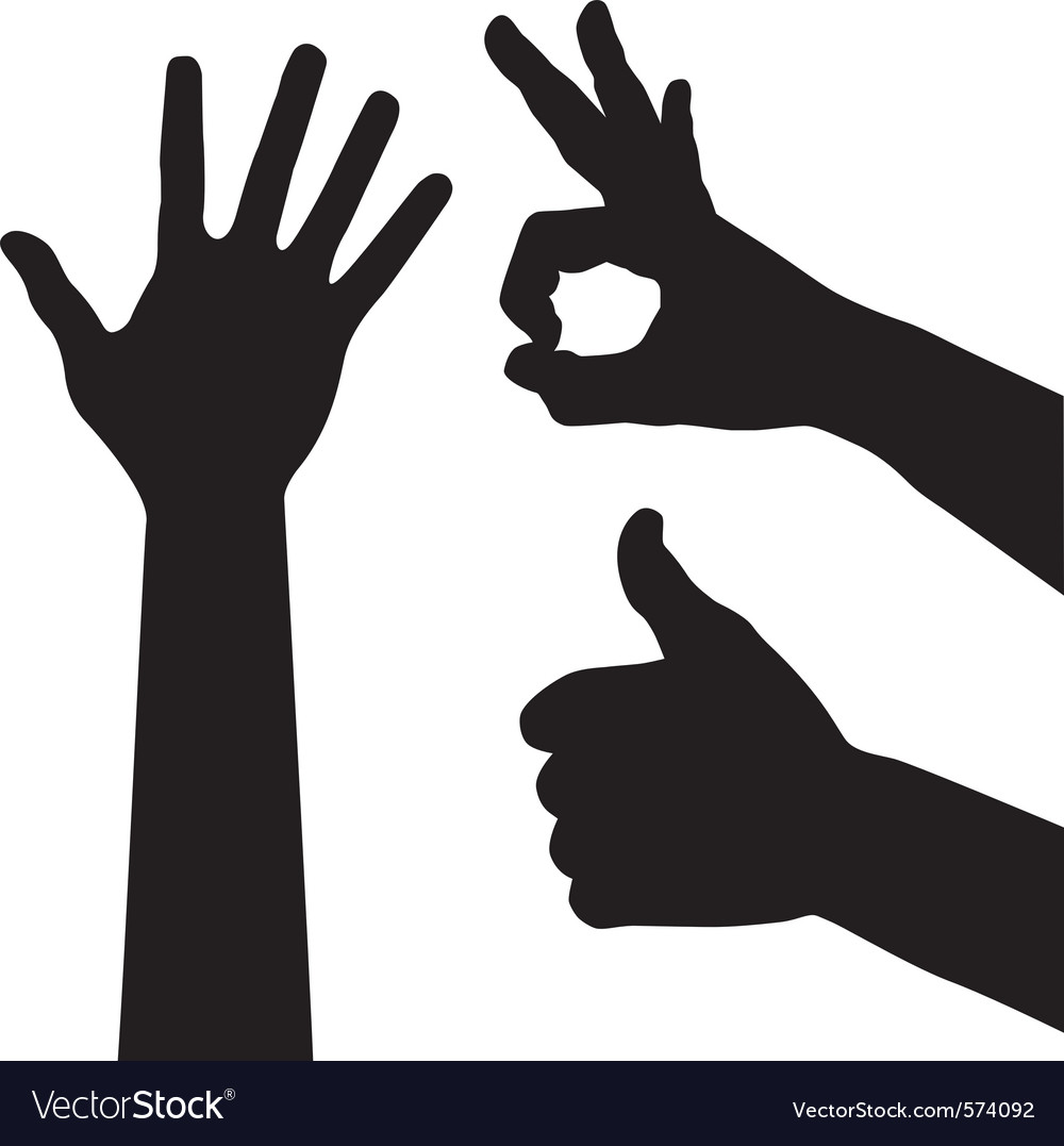 ok hand sign royalty free vector image vectorstock