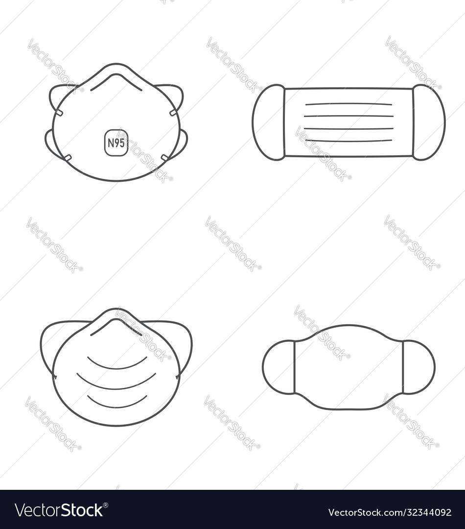 Outline medical masks - n95 surgical dust cloth