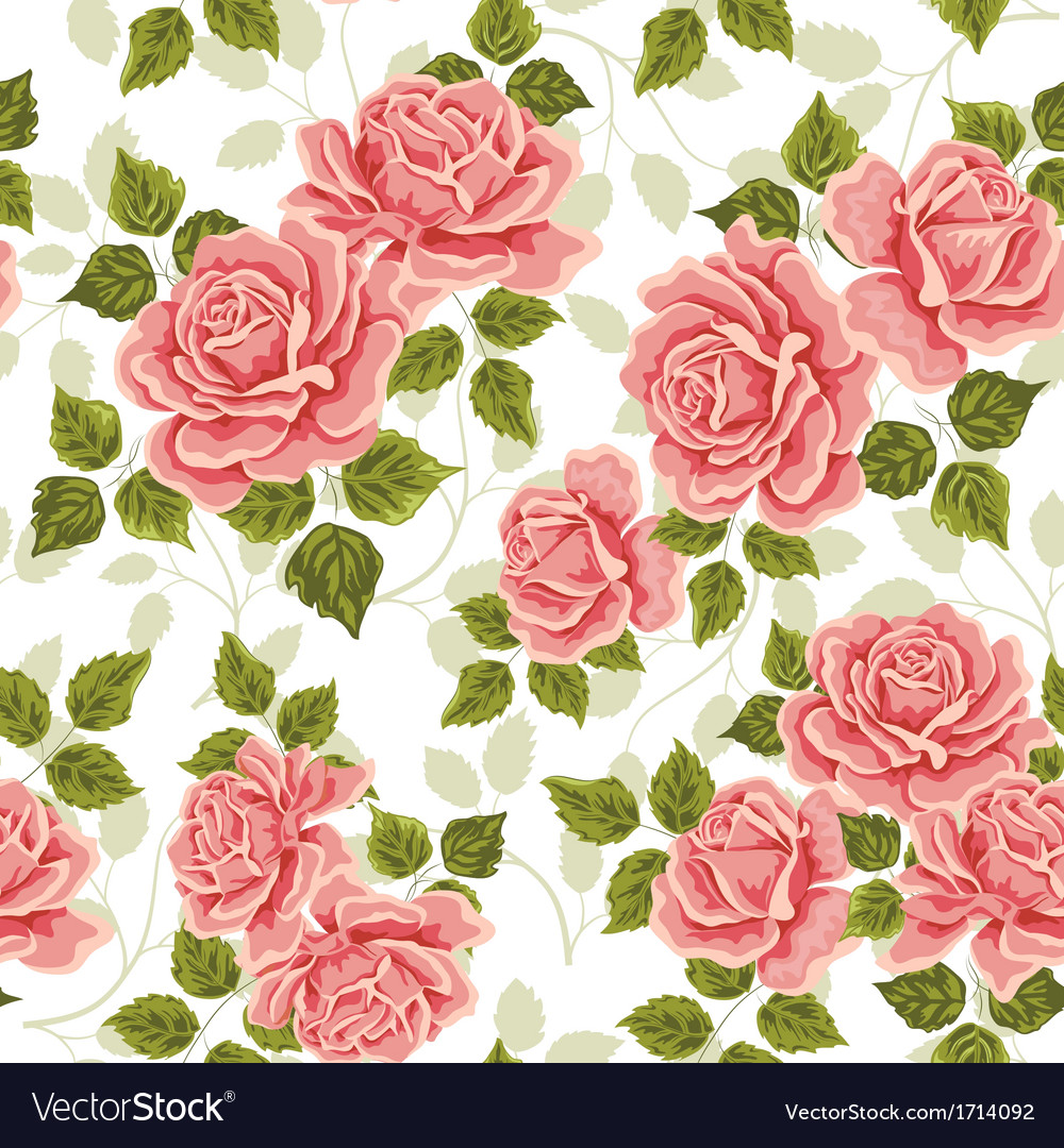 10+ Free Vector Rose Patterns | FreeCreatives |Vintage Floral Rose Pattern