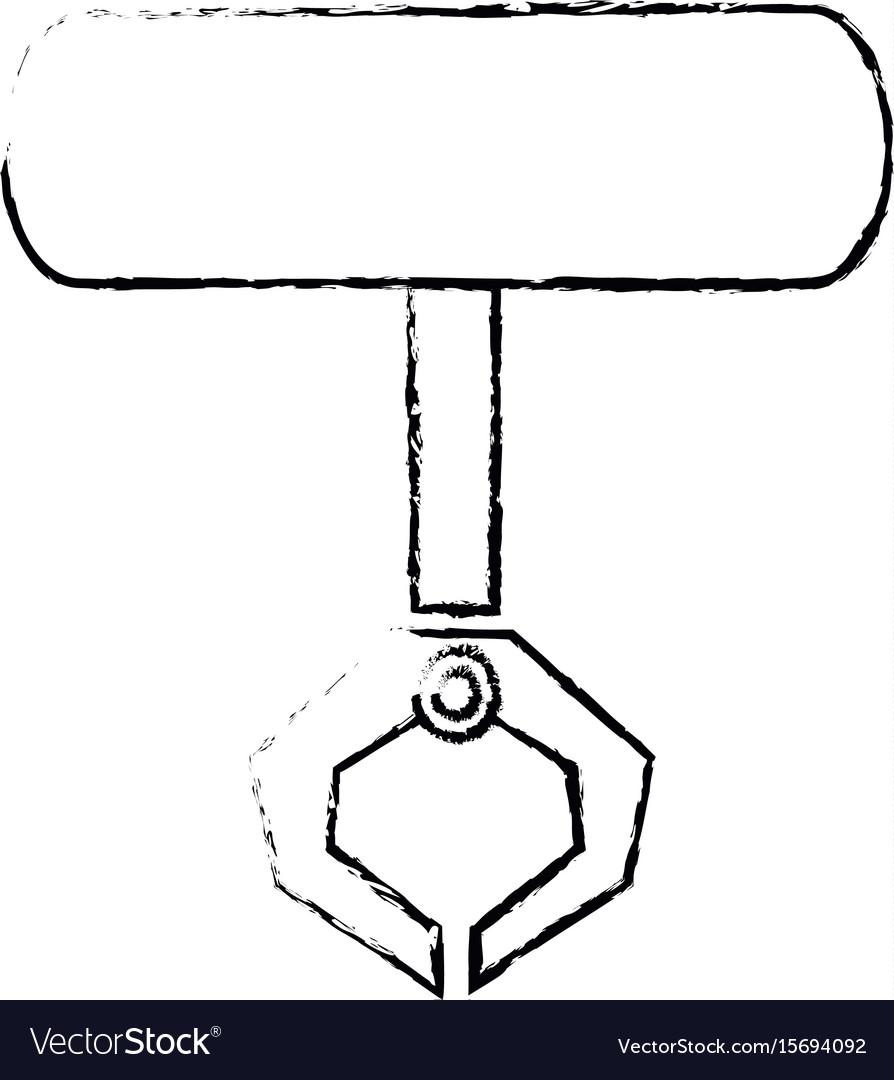 Robotic claw industrial machine equipment icon