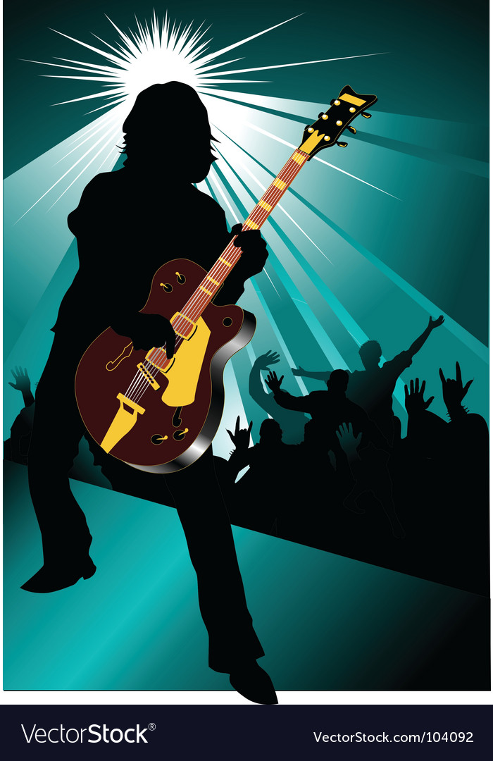 Rock and roll concert vector image