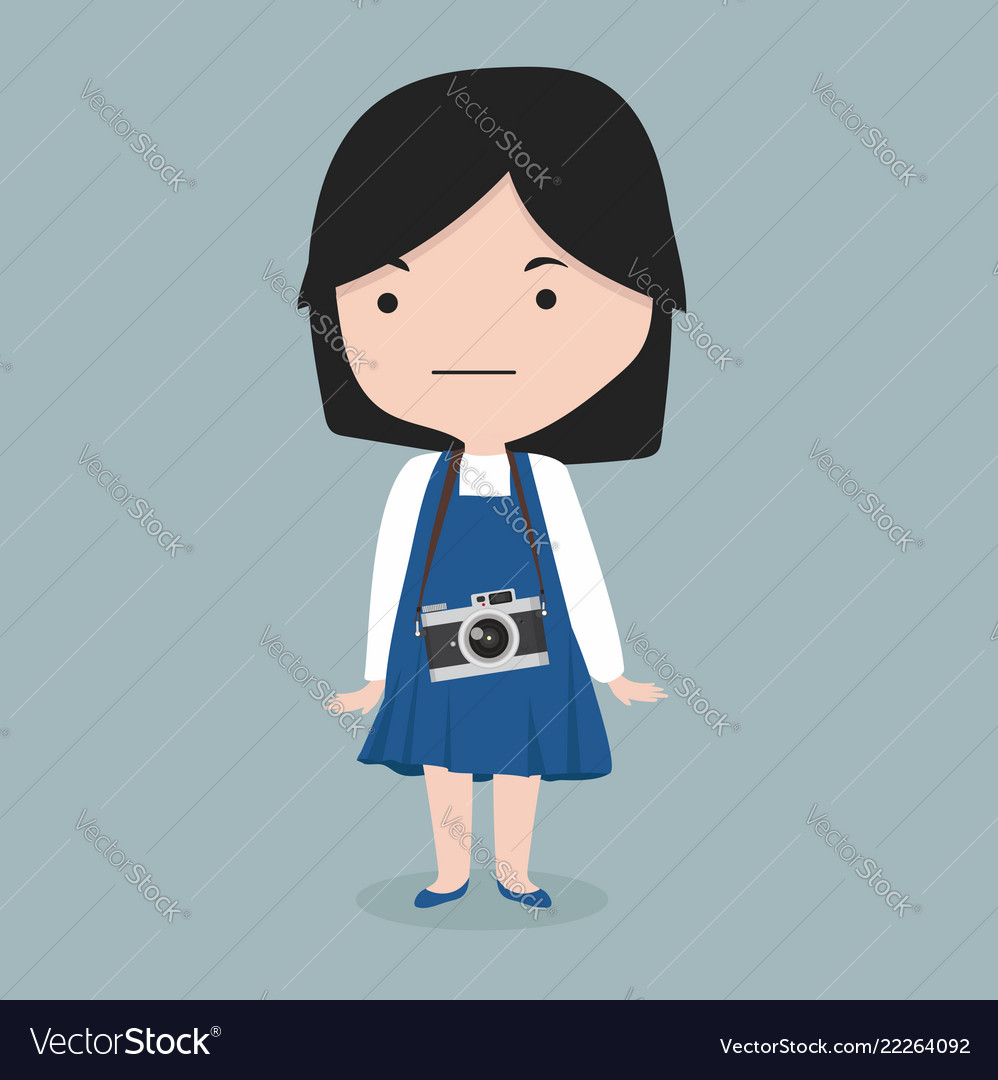 Small girl with a camera