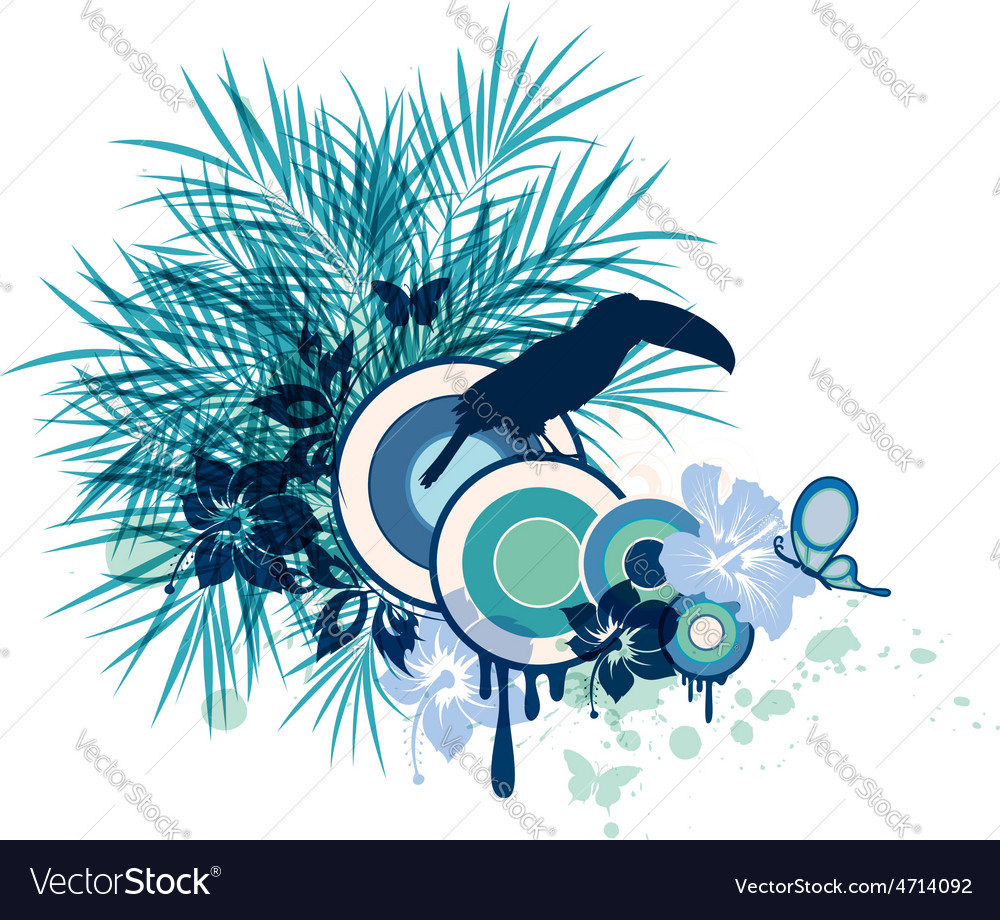 Summer decorative background vector image