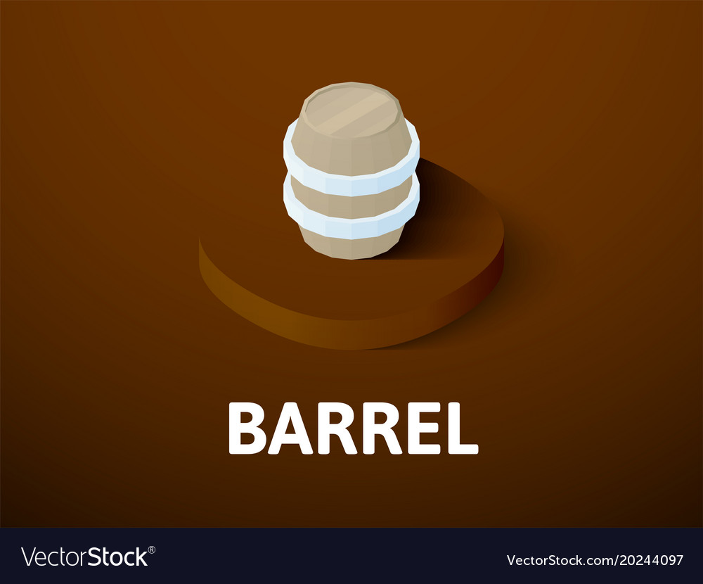Barrel isometric icon isolated on color