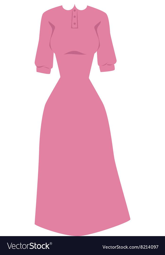 Bright pink hanger dress beauty and fashion women