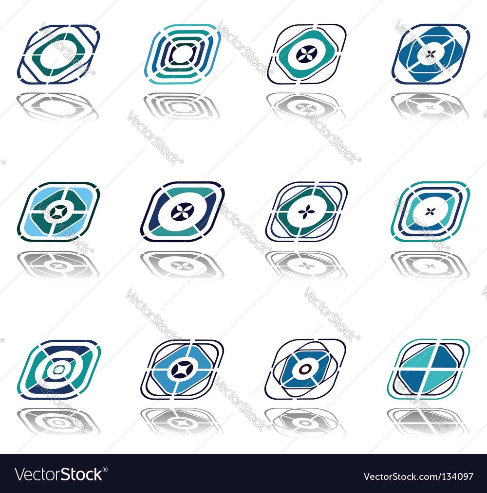 Design elements set vector image
