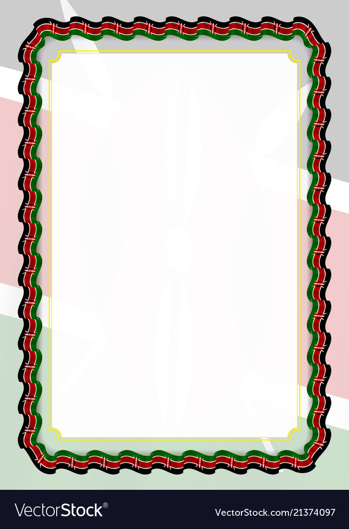 frame and border of ribbon with kenya flag vector image rh vectorstock com vector border templates vector border frame
