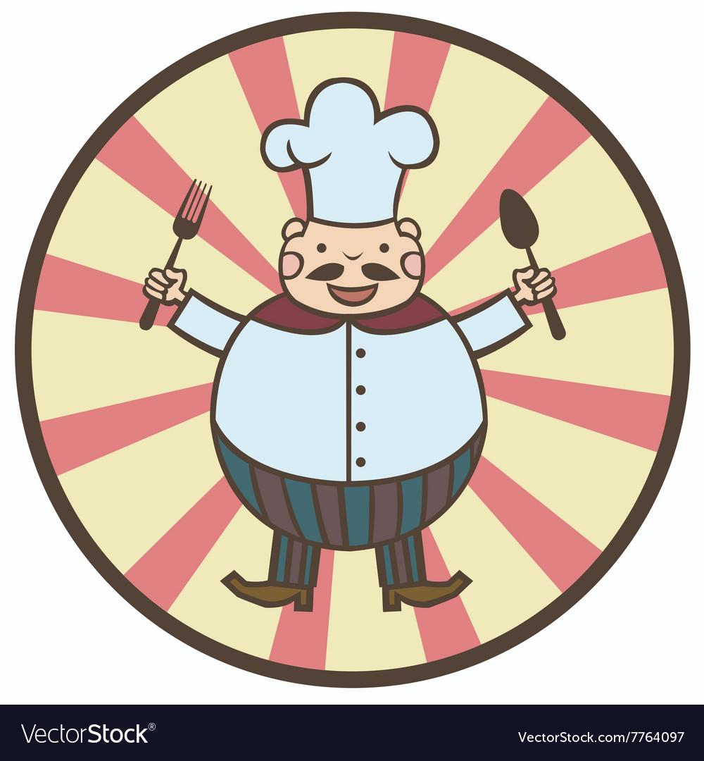 Funny cartoon cook