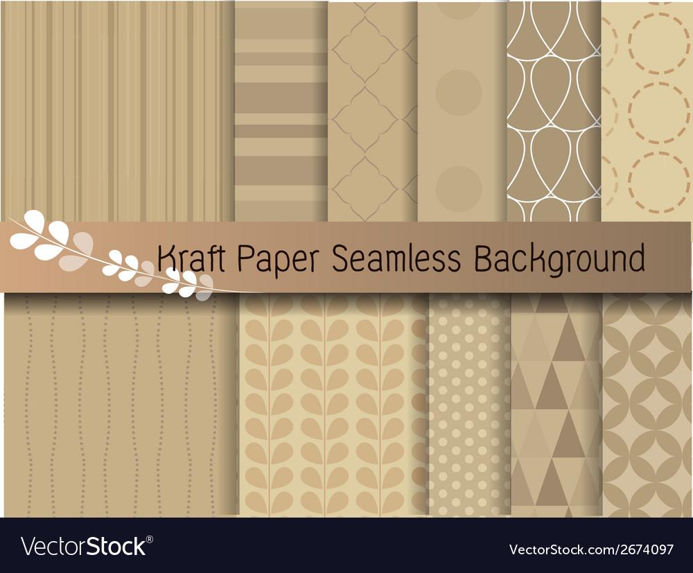 Kraft paper seamless background vector image