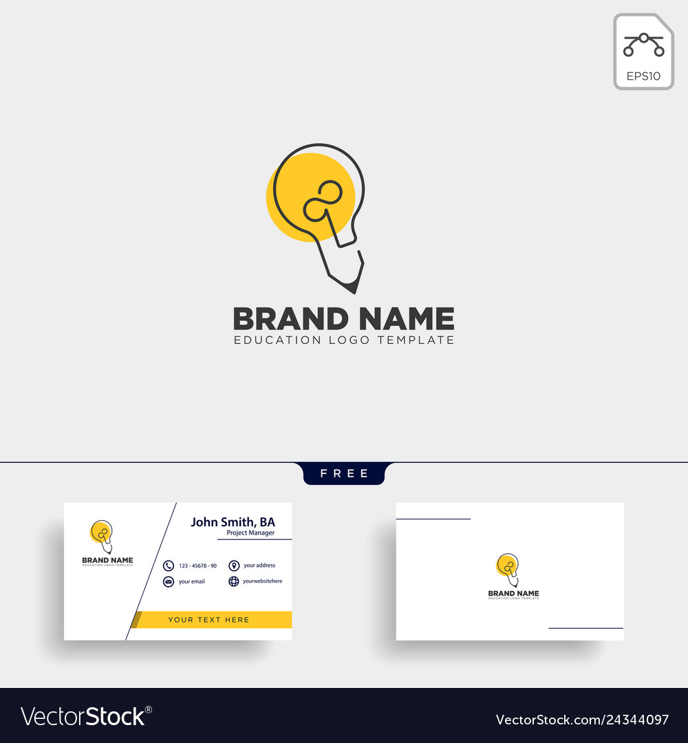 Light bulb learning line logo template icon