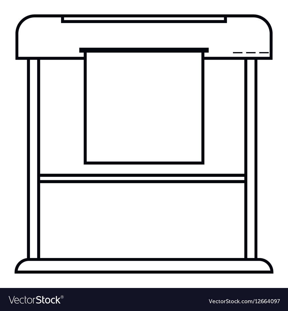Printer icon outline style