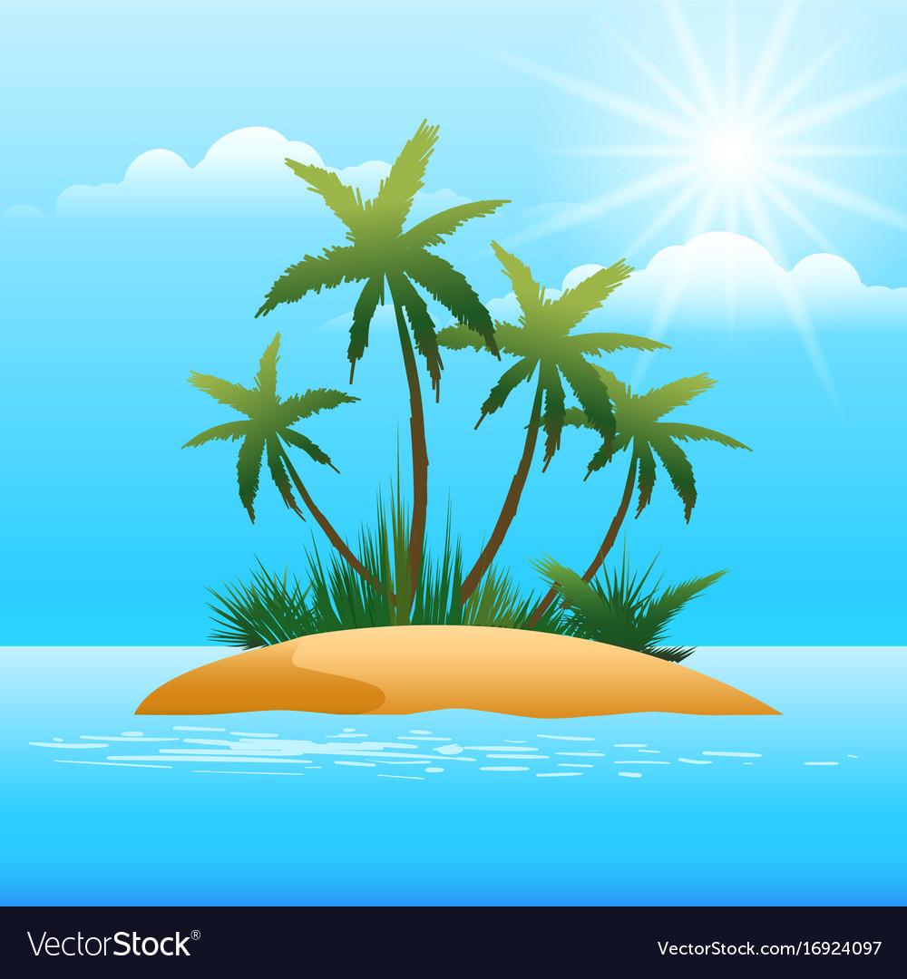 Small tropical island in ocean