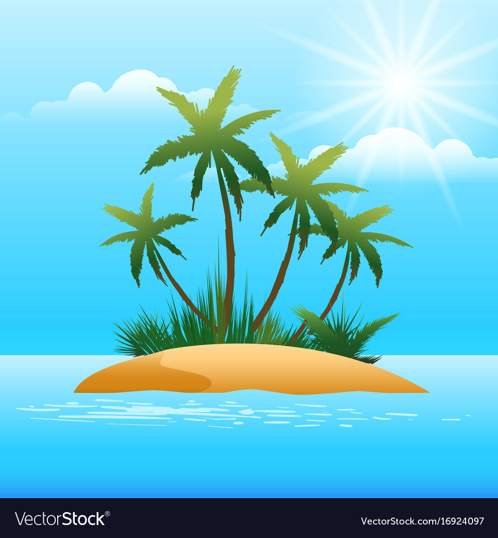 Small tropical island in the ocean