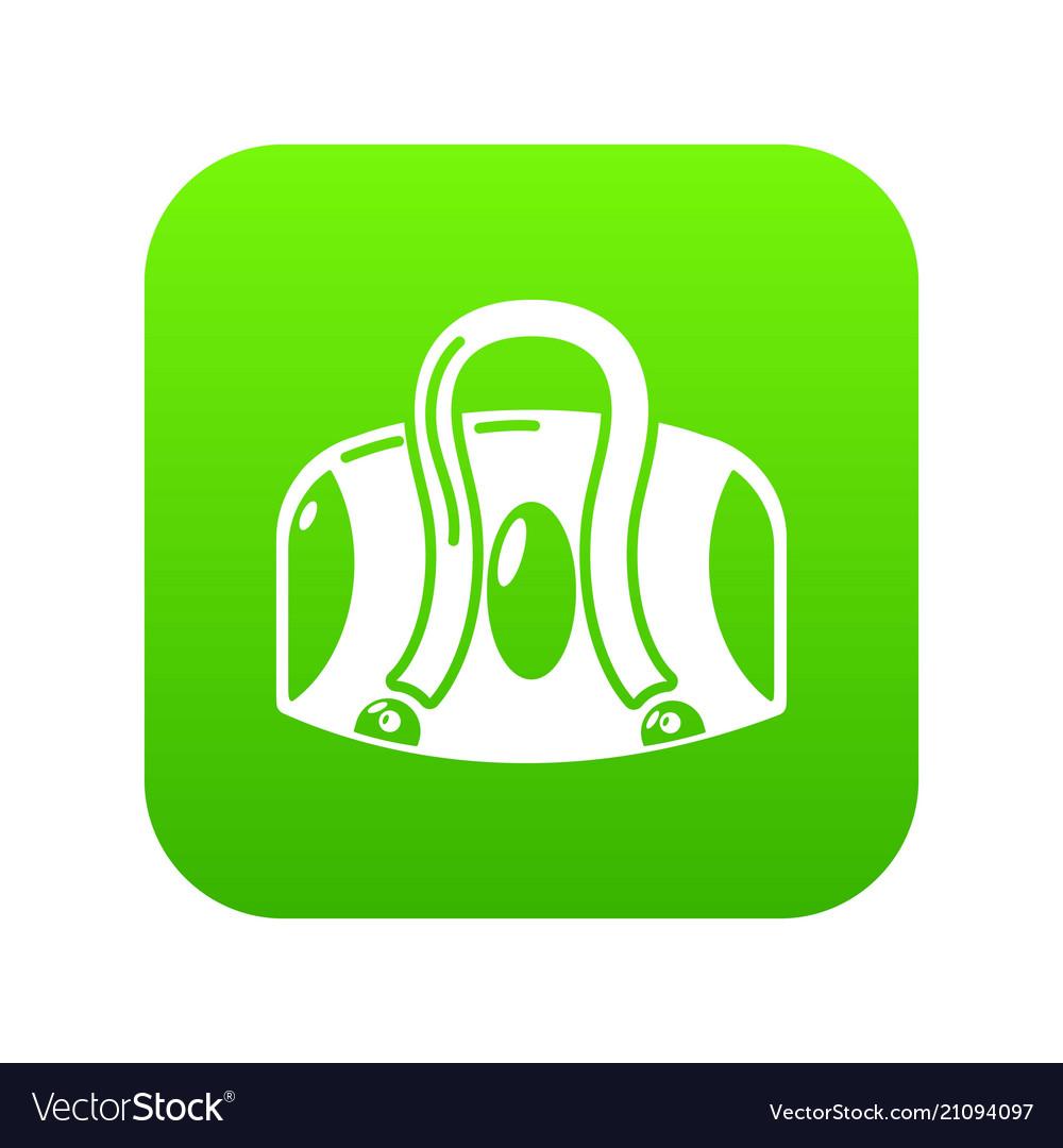 Travel bag icon simple black style