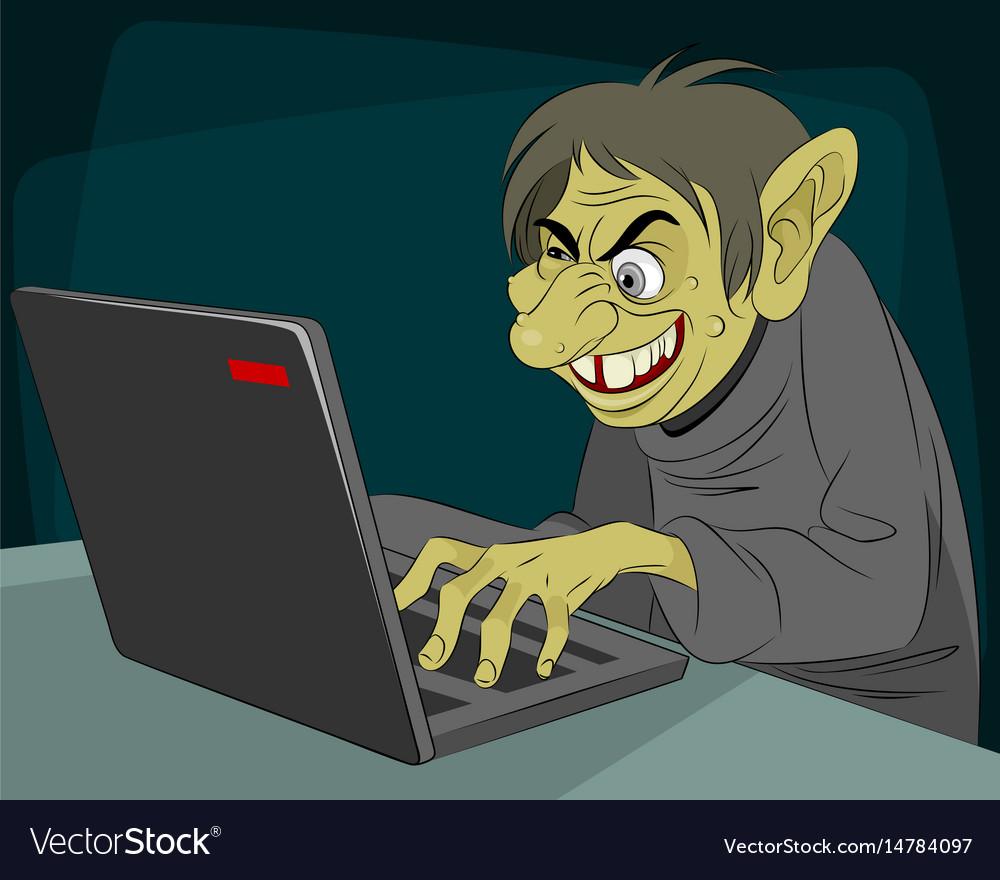 Ugly internet troll
