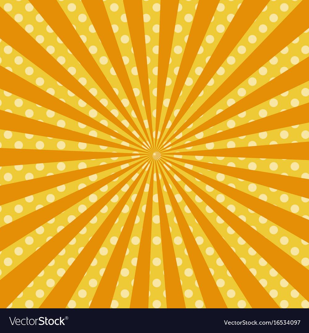 warm orange pop art retro comic background vector image rh vectorstock com pop art background collage pop art background information