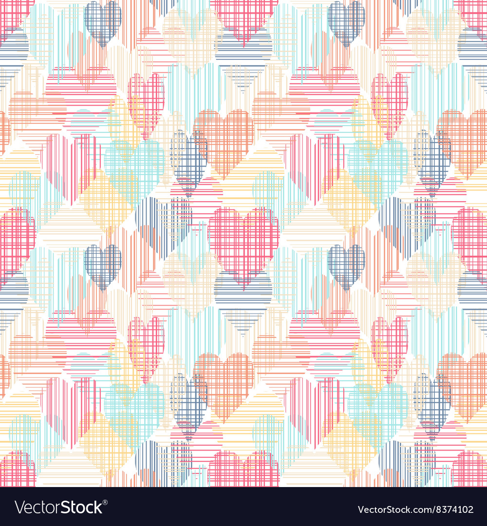 Abstract colorful seamless pattern with hearts