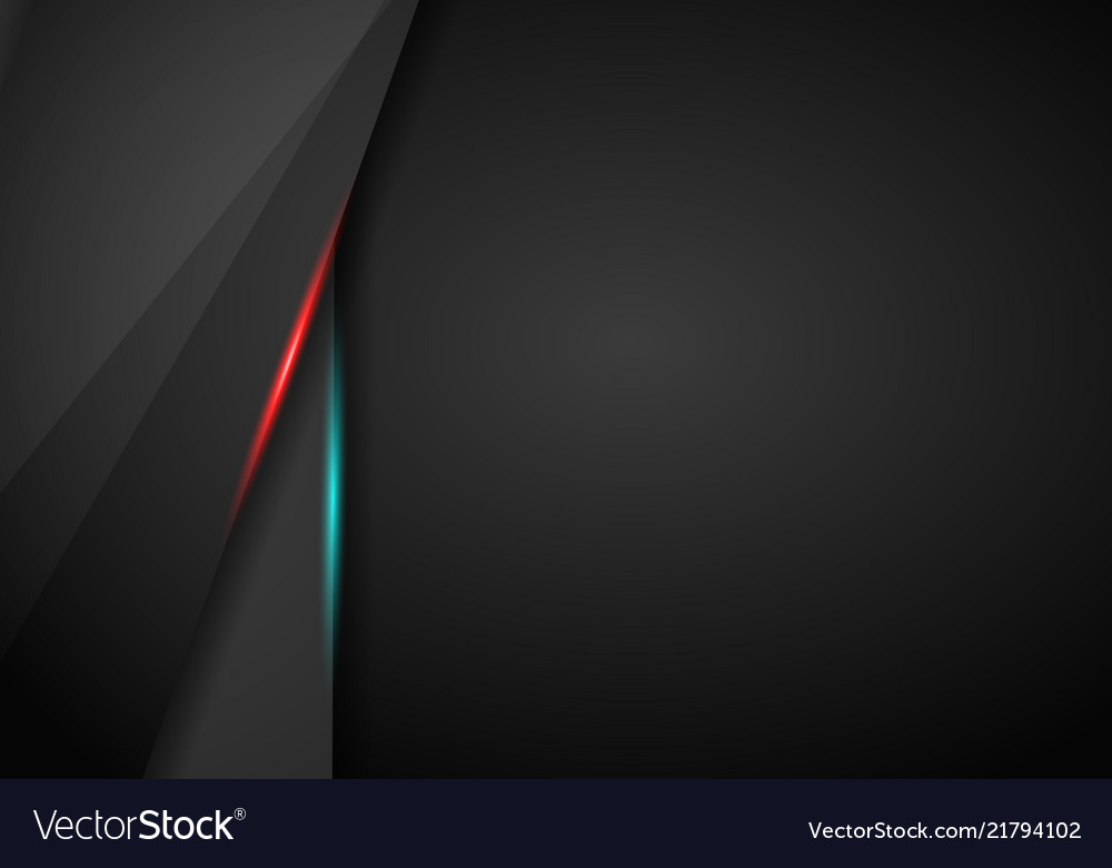 Black Background Overlap Dimension Red And Blue