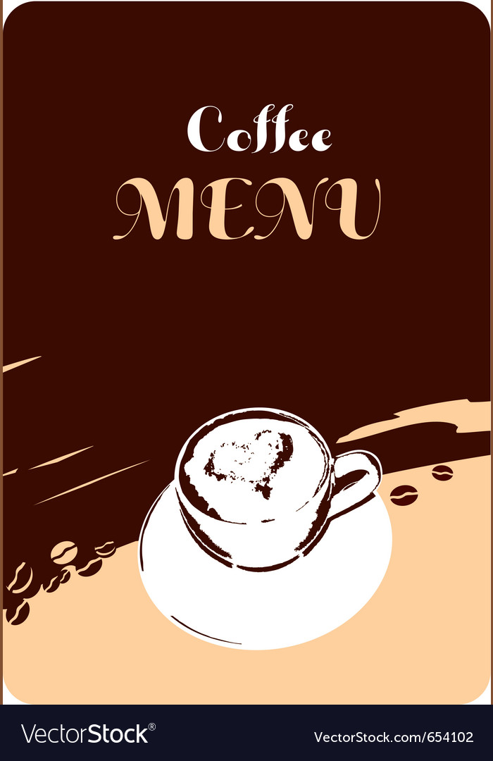 Coffee menu template design vector image