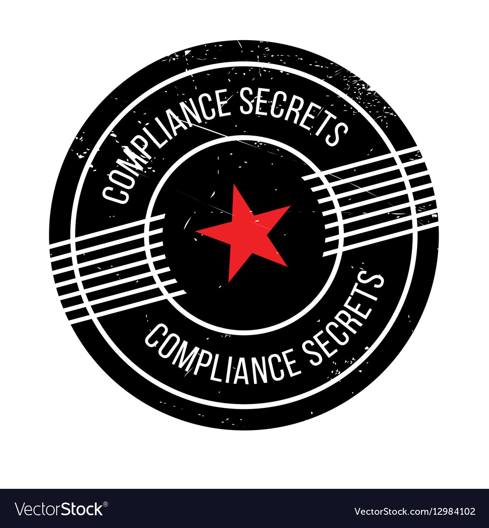 Compliance Secrets rubber stamp