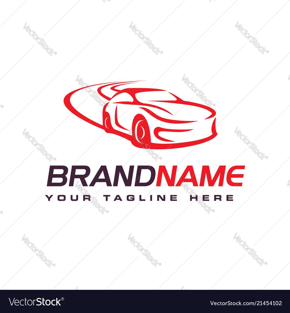Drift car logo automotive logo design template