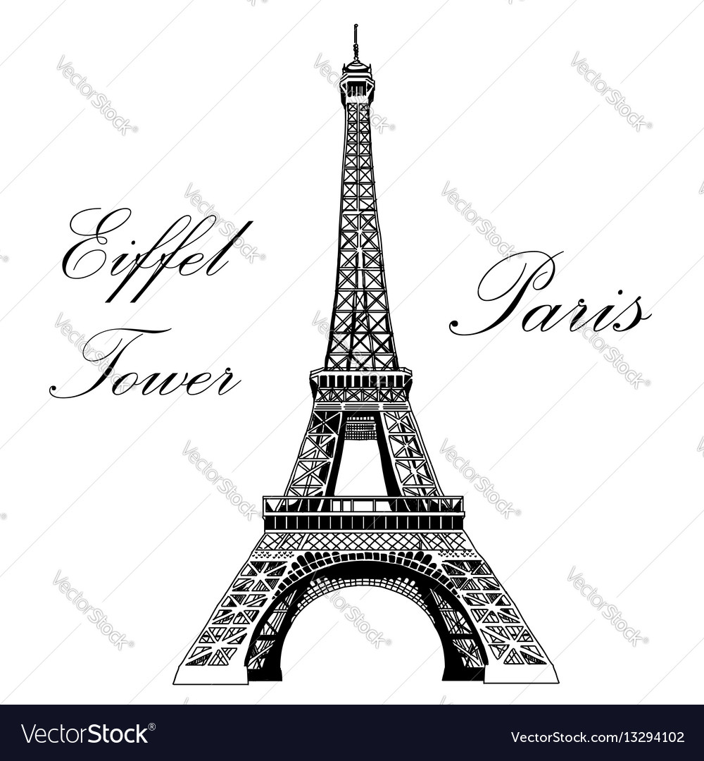 Hand drawing eiffel tower royalty free vector image hand drawing eiffel tower vector image thecheapjerseys Image collections