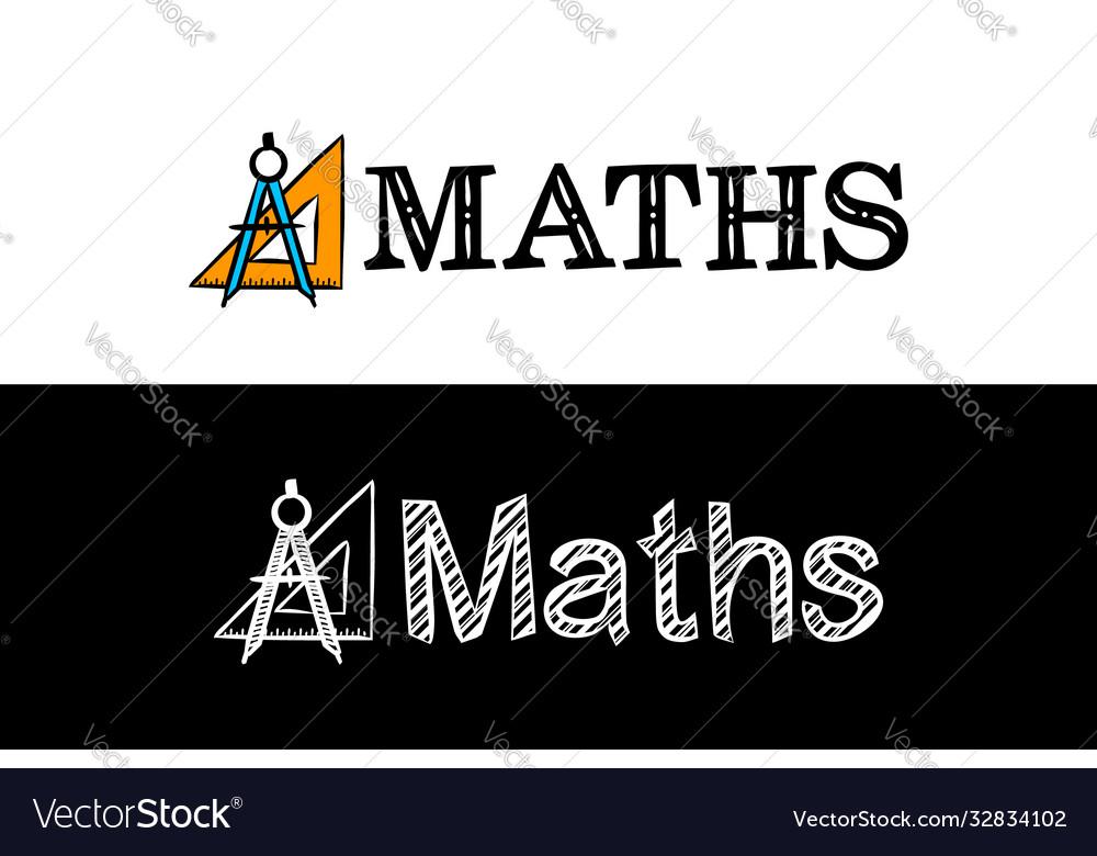 Logo for maths school subject