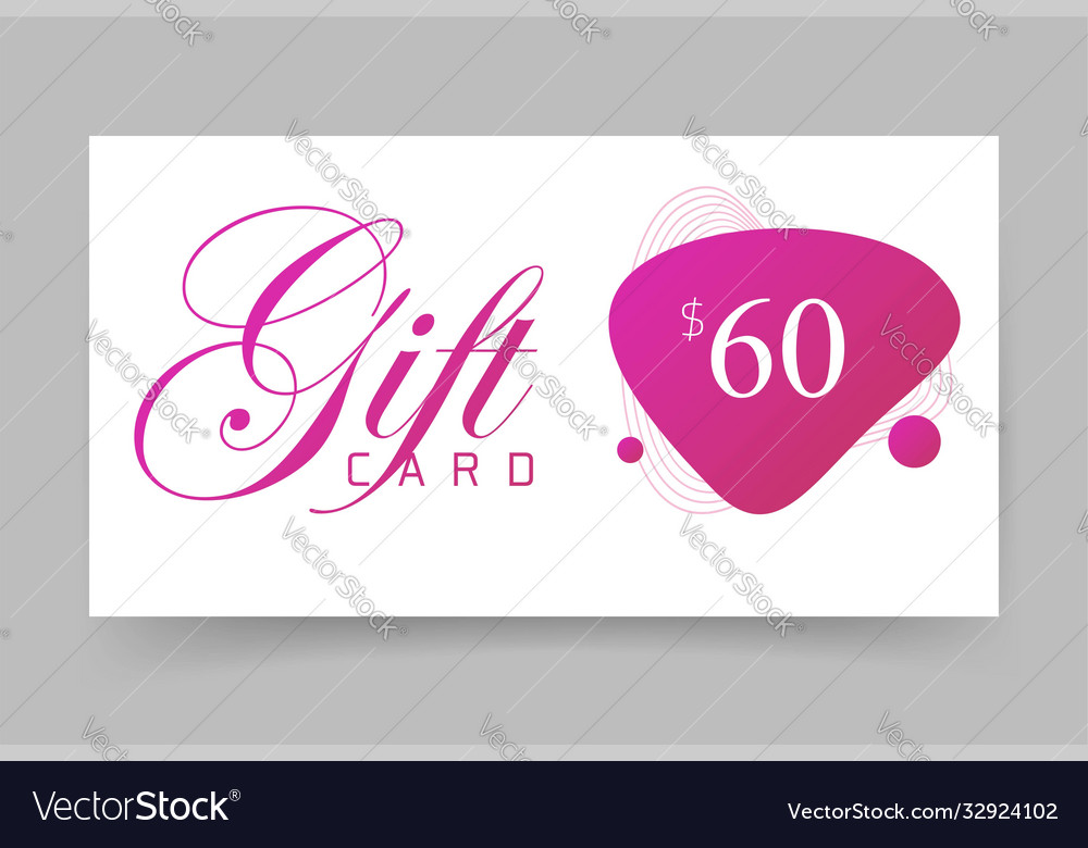 Mockup paper card empty blank template