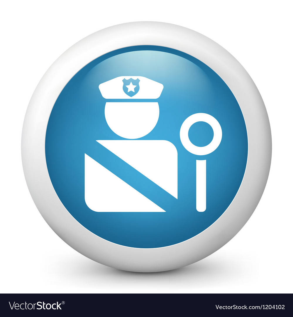 Police glossy icon vector image