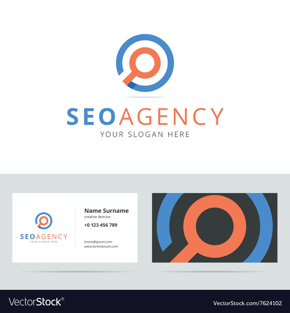 SEO agency logo and business card template
