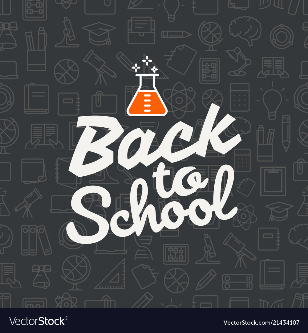Back to school concept lettering banner