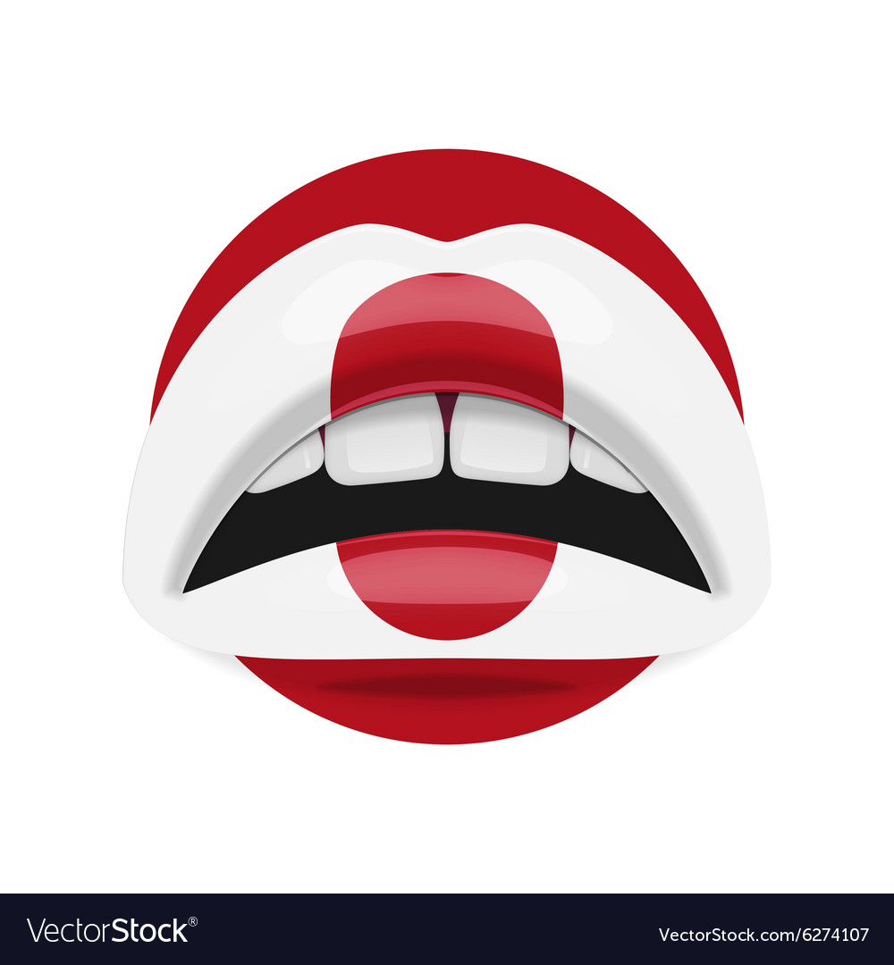 Beauty Lips with Japan Flag Makeup vector image