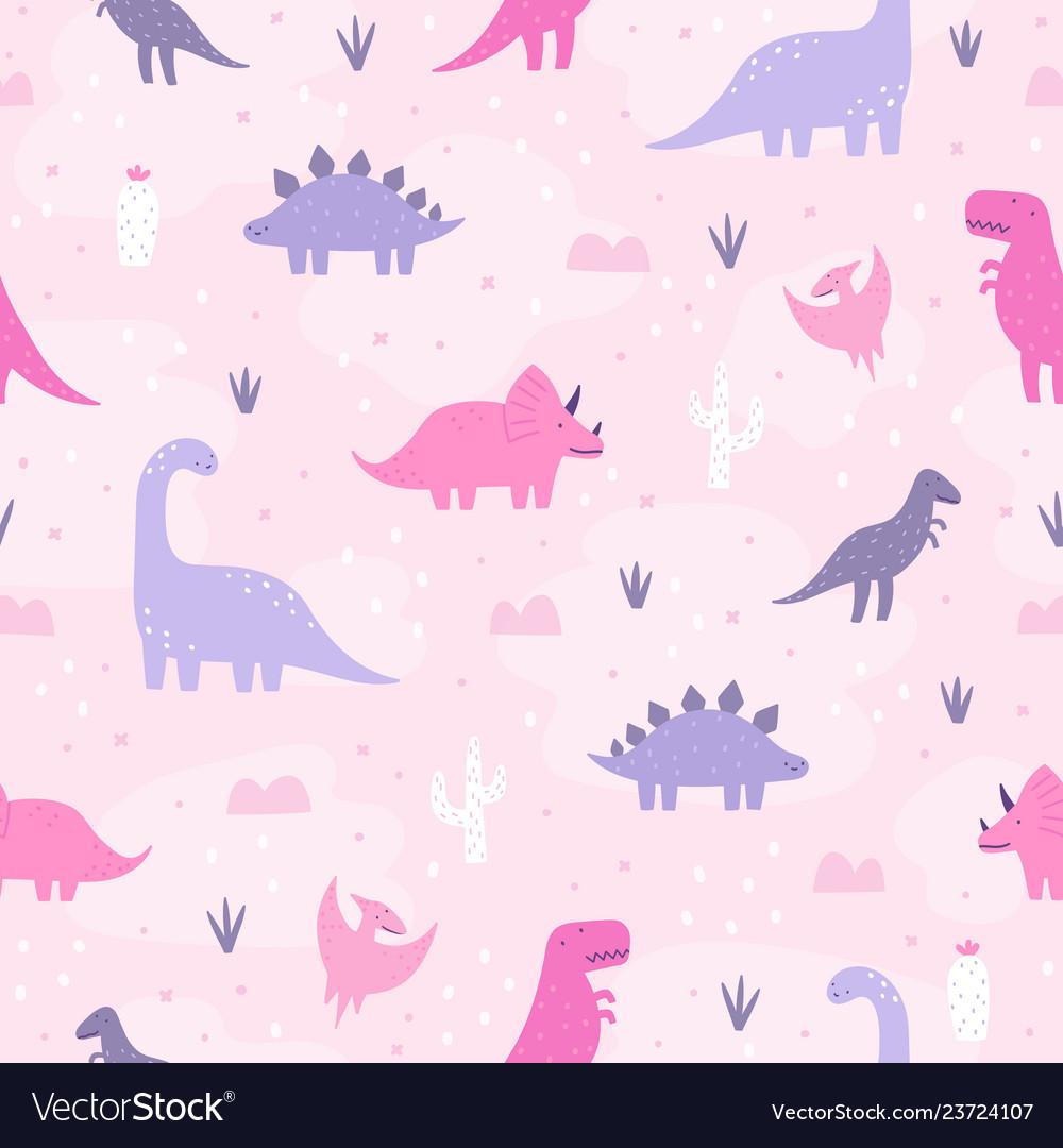 Cute pastel dinosaurs