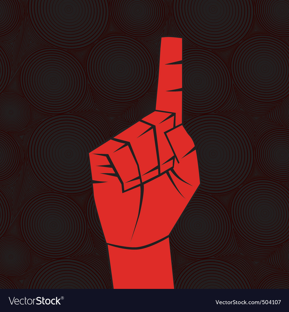 Index finger vector image